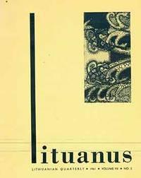 Lituanus: Lithuanian Quarterly, 1961. Vol. VII, No. 2.