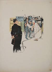 "image of ""Le Mirliton"".  A gendarme, hansom cab driver & worker.  Parisian journal advertisement, color poster"