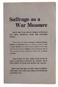 Suffrage as a War Measure [cover title]
