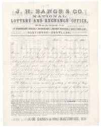 J. H. Bangs & Co. National Lottery and Exchange Office circular