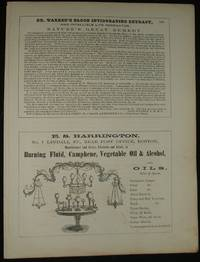 1853 Four 1/2 Page Advertisements for Medicine, Burning Oils, Clothiers,  Steam & Gas Pipes