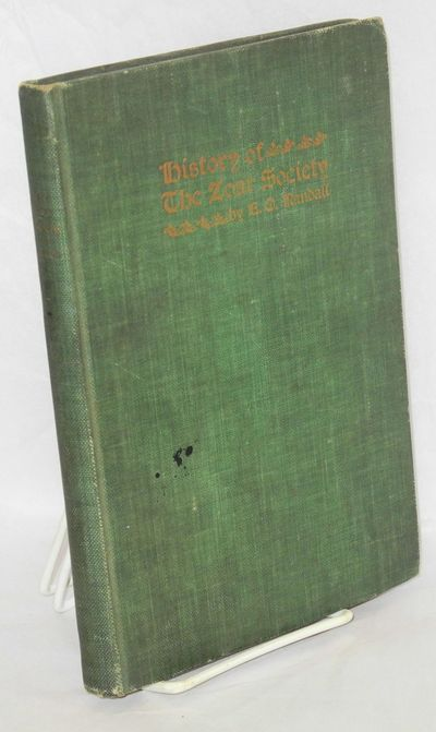 Columbus, Ohio: Press of Fred J. Heer, 1904. 105p., front., green cloth binding soiled, minor foxing...