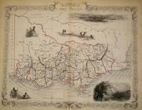 Victoria, or Port Phillip, antique map with vignette views