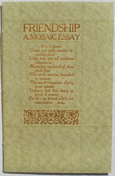 San Francisco:: Paul Elder & Company,, 1910. Second Edition, reprinted. Like New. 8vo. 8 3/8 x 5 3/8...
