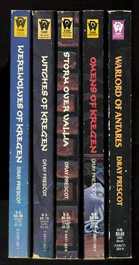 image of DRAY PRESCOT:  THE WITCH WAR CYCLE.  5 VOLUME SET.  WEREWOLVES OF KREGEN (DRAY PRESCOT: 33) / WITCHES OF KREGEN (DRAY PRESCOT: 34) / STORM OVER VALLIA (DRAY PRESCOT: 35) / OMENS OF KREGEN (DRAY PRESCOT: 36) / WARLORD OF ANTARES (DRAY PRESCOT: 37).
