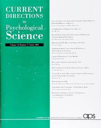 image of Current Directions In Psychological Science (Volume 18, Number 3, June 2009)