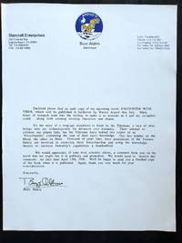 Buzz Aldrin Typed Letter Signed on His Upcoming Novel, 1996