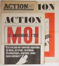 Action, journal réalisé au service des Comités d'Action - nn° 2 à 5, 7 à 10, 12 à 23, 38. (21 numéros sur 49 parus)
