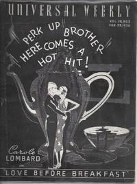 image of Universal weekly magazine: vol.38, no.5: 1936 Feb. 29. Carole Lombard