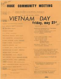 Huge Community Meeting . . . Vietnam Day; Friday, May 21st by  Jerry et al) (Rubin - 1965 - from Locus Solus Rare Books (SKU: 204401)