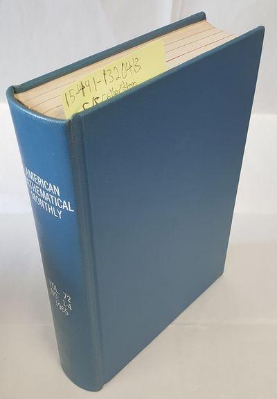 Menasha: Mathematical Association of America, 1965. Hardcover. Octavo; G+ Hardcover; Blue spine with...