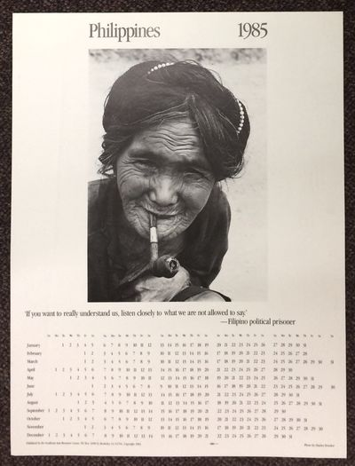 Berkeley, CA: Southeast Asia Resource Center, 1984. 17x22.5 inch poster with a photo by Charles Druc...