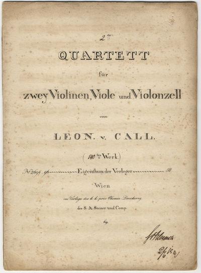 Wien: Verlag der k.k. priv. Chemie=Druckerey des S: A: Steiner und Comp. , 1817. Folio. Unbound. Vio...