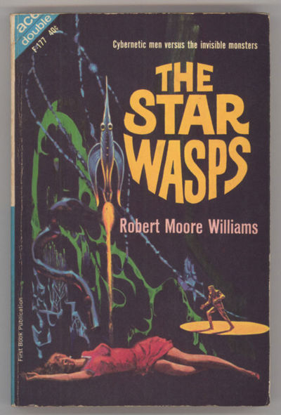 New York: Ace Books, 1963. Small octavo, pictorial wrappers. First edition. Ace Double F177. A megal...