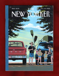 "image of The New Yorker - August 20, 2018. R. Kikuo Johnson Cover, ""Safe Travels"". British Immigrant Leaves Trump's America; Putin's Greatest Obsession; Virgin Galactic Space Tourism; BlacKkKlansman; West Coast Rap; Charles DeGaulle's Legacy; Rethinking Wagner"