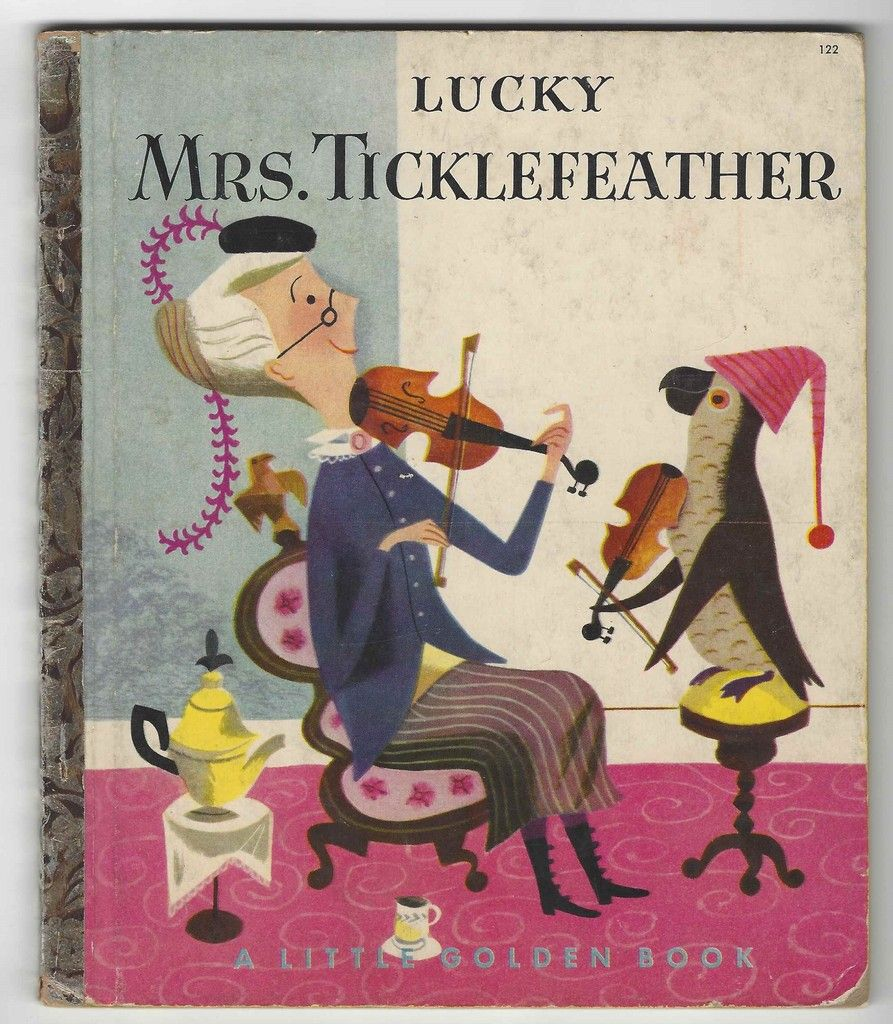 Lucky Mrs. Ticklefeather A Little Golden Book By Dorothy