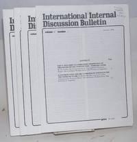 International internal discussion bulletin, vol. 11, no. 1, January 1974 to no.5, April 1974
