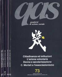QAS Quaderni di azione sociale Anno 1990 n. 73 - 74 - 75, 76 - 77 - 78