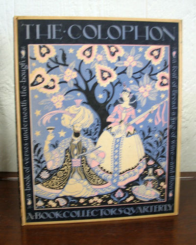 New York: The Colophon, 1933. 1st edition. Colored paper over boards. VG (panels yellowed).. Various...