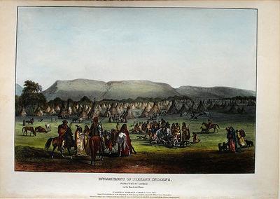 Philadelphia: Daniel Rice & James G. Clark, 1842. Hand-coloured lithograph. Very good condition apar...