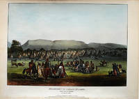 Encampment of the Piekann Indians, near Fort McKenzie on the Muscleshell River