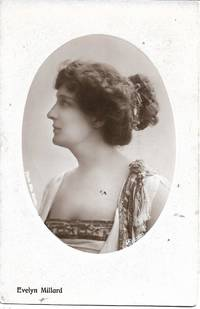 image of Edwardian Era British Stage Actress, Evelyn Millard, on ca. 1910 Monochrome Real Photo Postcard (RPPC)