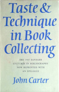Taste & technique in book collecting