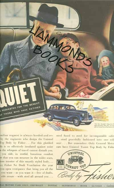 Ad For General Motors Body By Fisher Quiet Is Requested