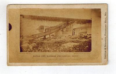 Pleasant Hill, MO: Little & Sprague No Date, circa 1869, what is now called the Hannibal Bridge saw ...