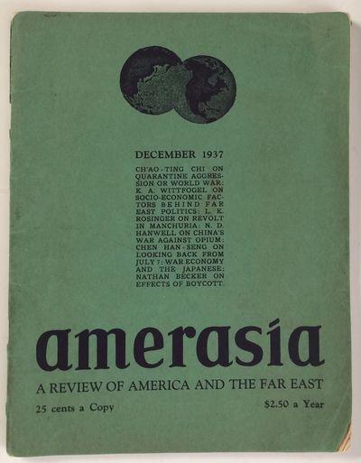 New York: Amerasia, 1937. pp. 433-484, staplebound wraps, edgeworn, cover splitting at top of spine;...