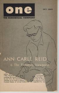 ONE HOMOSEXUAL MAGAZINE DECEMBER 1957: THE HOMOSEXUAL VIEWPOINT