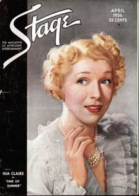 image of STAGE THE MAGAZINE AFTER-DARK ENTERTAINMENT (APRIL 1936)  Ina Laire on  Front Cover