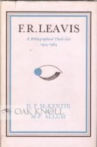 F. R. LEAVIS, A CHECK-LIST 1924-1964