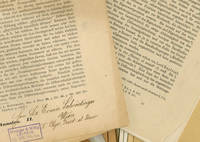 Works From the Library and Lab of Erwin Schrodinger: 30 works of Schrodinger, along with 2 bearing ownership markings of Schrodinger himself, including copies of his first work and the work that brought him first acclaim
