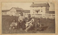 Three Cartes-de-Visite of the Neosho Reservation, One Showing a Kaw Family and Two Showing Euro-American Settlers, c. 1866-1870