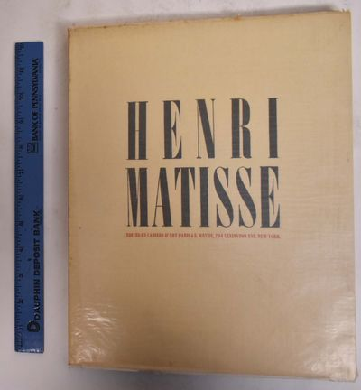 Paris: Cahiers d'Art and E. Weyhe, 1931. Paperback. VG- some pages loose from binding, light discolo...