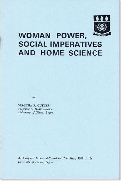 Accra: Ghana Universities Press, 1969. First Edition. Octavo (21.5cm.); original blue staplebound pr...