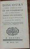 View Image 1 of 2 for DISCOURS SUR L'ORIGINE ET LES FONDEMENS DE L'INEGALITE PARMI LES HOMMES; par ... Citoyen de Geneve Inventory #17646