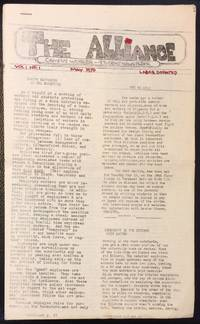 The Alliance. Campus Worker-Student Newspaper. Vol. 1 no. 1 (May 1970)