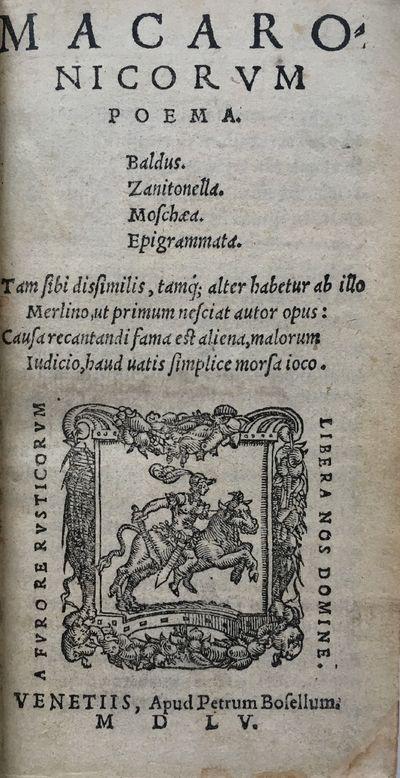 Macaronicorum poema. Baldus....