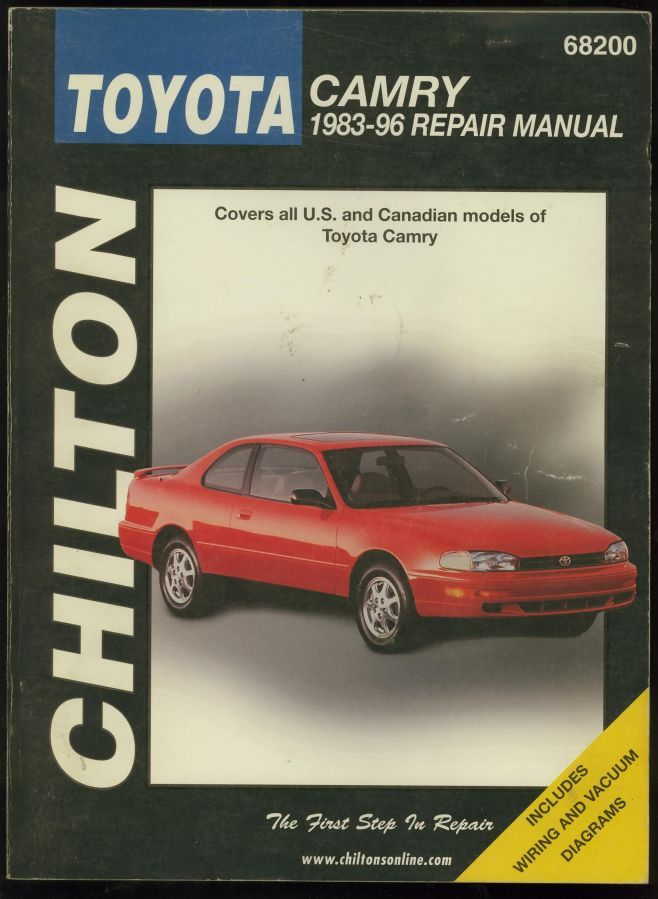 chilton toyota camry 1983 96 repair manual second hand books. Black Bedroom Furniture Sets. Home Design Ideas