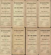 image of THE PENNSYLVANIA RAILROAD: NEW YORK ZONE/ NEW YORK DIVISION/ TIME-TABLE  NO.34 - 35, NO.1 - NO. 6 / FOR THE GOVERNMENT OF EMPLOYES ONLY (8  CONSECUTIVE TIME TABLES SEPT. 29 1940 TO NOV. 14 1943)