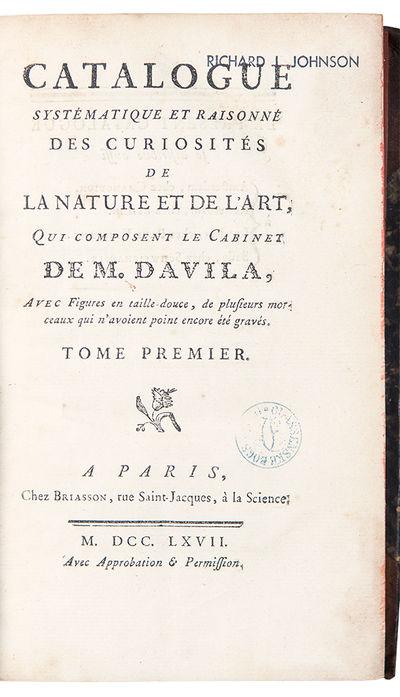 Catalogue Systematique et Raisonne...