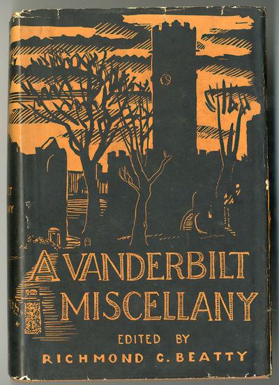 Nashville: Vanderbilt University Press, 1944. Large, thick octavo. Gilt cloth. A very good copy in s...