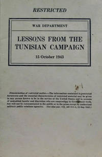 Lessons from the Tunisian Campaign: 15 October 1943