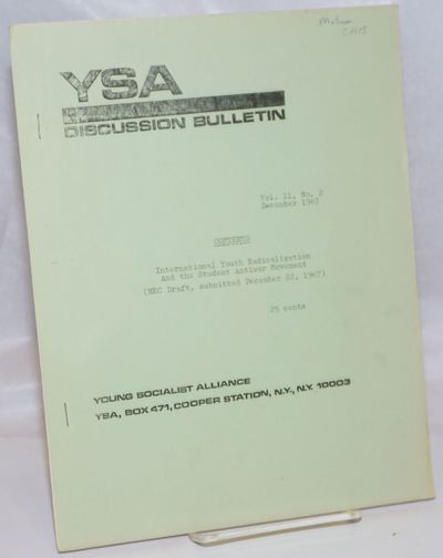 New York: Young Socialist Alliance, 1967. 16p., stapled wraps, 8.5x11 inches, mimeographed, lightly ...
