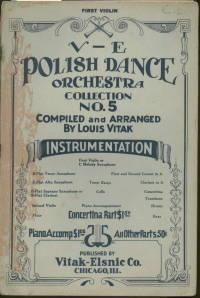 V-E POLISH DANCE ORCHESTRA COLLECTION NO.5 FOR FIRST VIOLIN