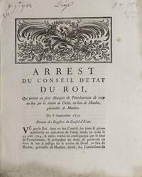 Arrest du Conseil d'Etat du Roi, qui permet au sieur Marquis de Pontchartrain de tenir un bac...
