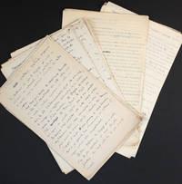 """[Manuscrit autographe inédit et tapuscrit] """"Les éléments non rationnels du langage"""", conférence à la Sorbonne (amphithéâtre Michelet) le 2 juin 1927"""