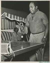 Portrait of Charlie Parker Playing Table Tennis, c. Early 1950s